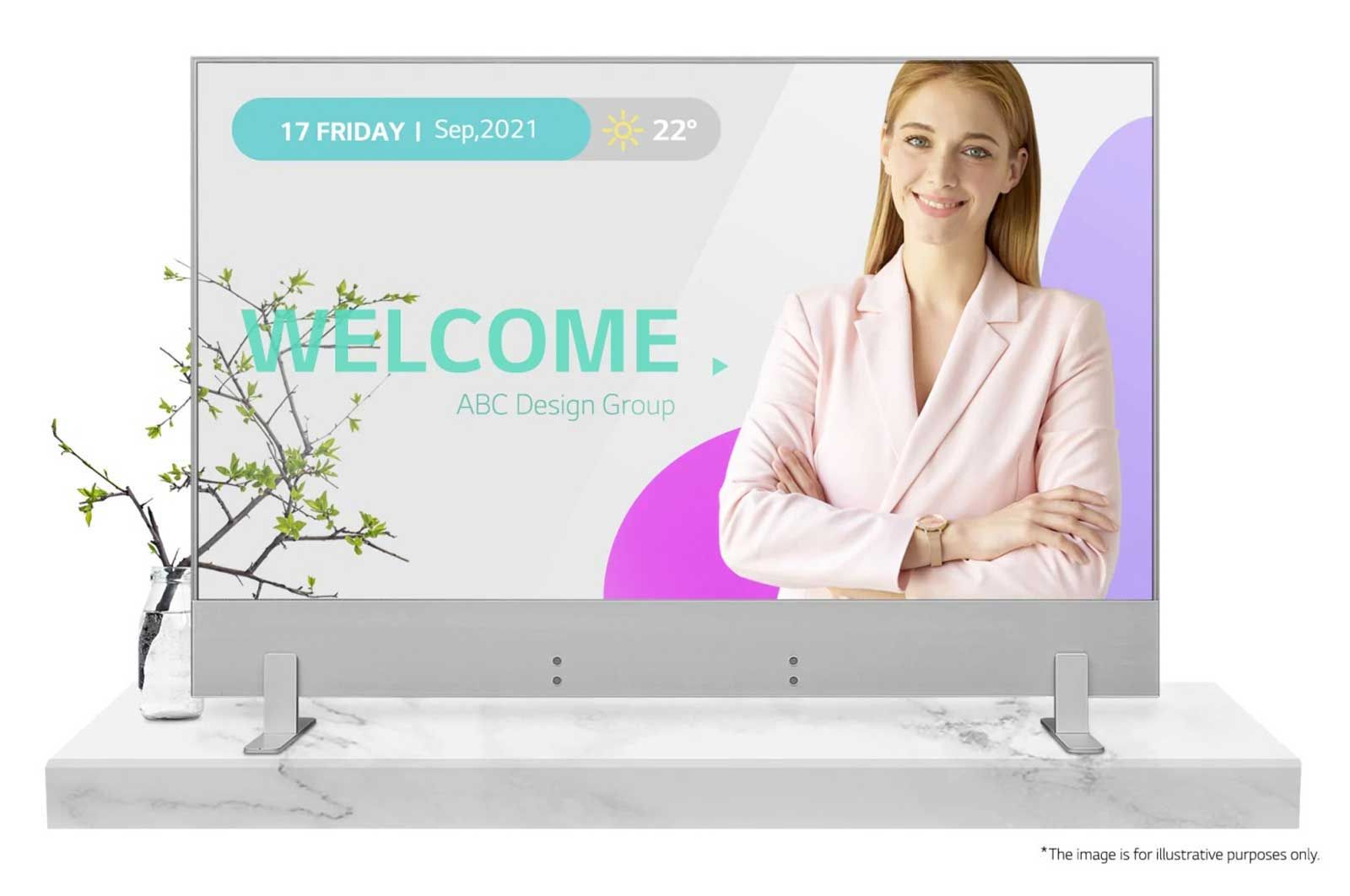 """55"""" FHD Transparent OLED Digital Signage with Tile Mode, webOS™ 4.0, Pro:Idiom™, Wake on LAN, Protective Tempered Glass"""