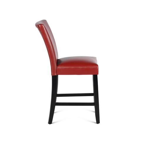 "Matinee PU Counter Chair [1/2"" Memory Foam], Red"