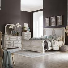 King Sleigh Bed, Dresser & Mirror, Chest