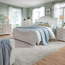 View Product - King California Panel Bed, Dresser & Mirror, Night Stand