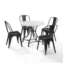 "MADELEINE 32"" 5PC DINING SET W/AMELIA CHAIRS"