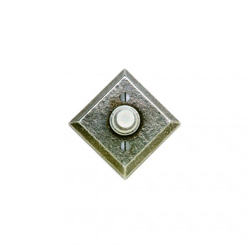 Diamond Doorbell Button Silicon Bronze Rust