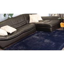 """Chinchilla Feel Faux Fur Area Rug by Rug Factory Plus - 7'6"""" x 10'3"""" / Navy"""