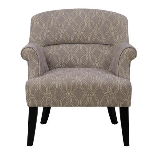 Grey Roll Arm Accent Chair