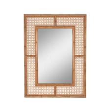 Palm Rectangular Mirror, Natural