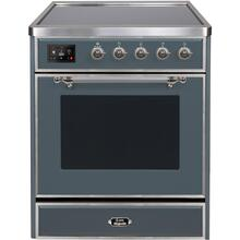 See Details - Majestic II 30 Inch Electric Freestanding Range in Blue Grey with Chrome Trim