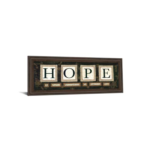 """Hope"" By Anne Lapoint Mirrored Framed Print Wall Art"