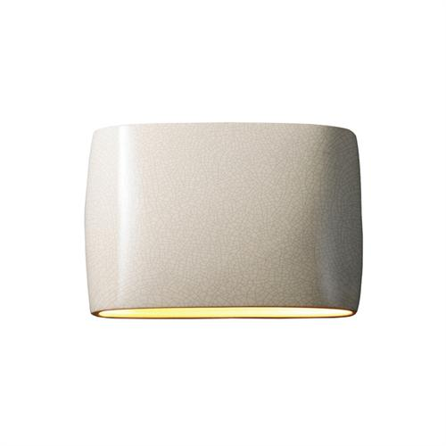 Wide ADA Outdoor Large Oval Wall Sconce - Open Top & Bottom