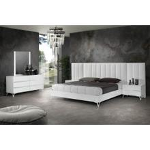 Nova Domus Angela - Italian Modern White Eco Leather Bed