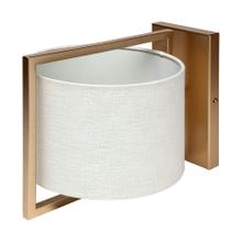 See Details - Smithe II 9x13 Gold Toned Metal Cream Lampshade Wall Sconce