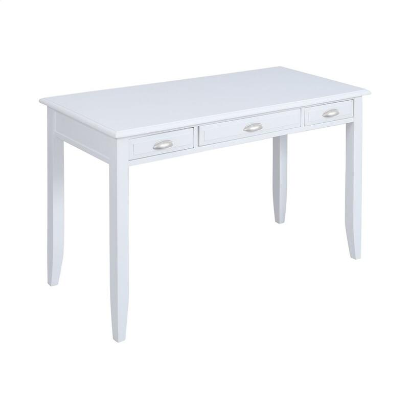 Beatrix 3-drawer Desk In White