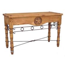 See Details - Star Sofa Table W/ Iron Accents