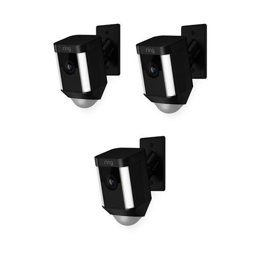 3-Pack Spotlight Cam Mount - Black