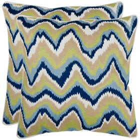 Bali Pillow - Green / Navy