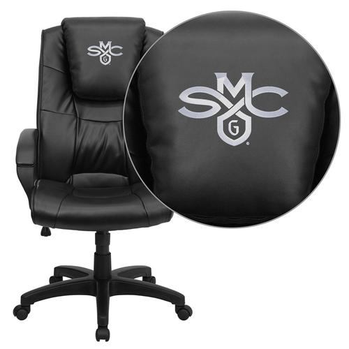 Saint Mary's College of California Gaels Embroidered Black Leather Executive Office Chair
