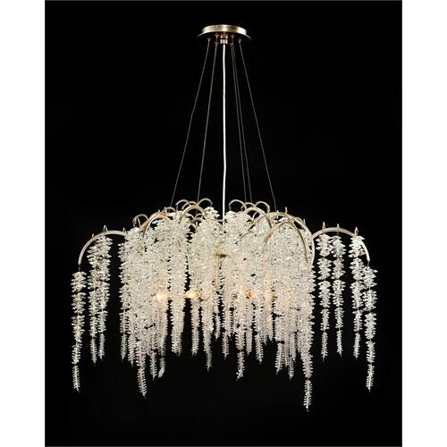 Cascading Crystal Six-Light Chandelier