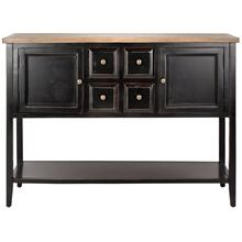 Charlotte Storage Sideboard - Black / Oak