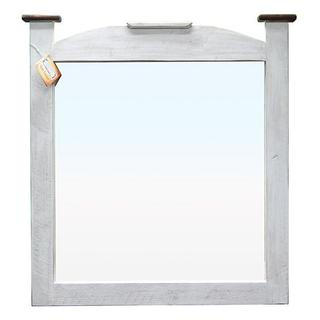 See Details - Weathered White Water Based Mansion Mirror