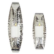 """S/STEEL WALL SCONCE S/2 13.5"""", 18.5""""H"""