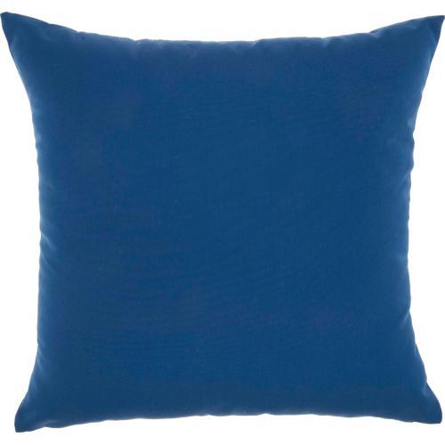 """Outdoor Pillows L9090 Blue 18"""" X 18"""" Throw Pillow"""