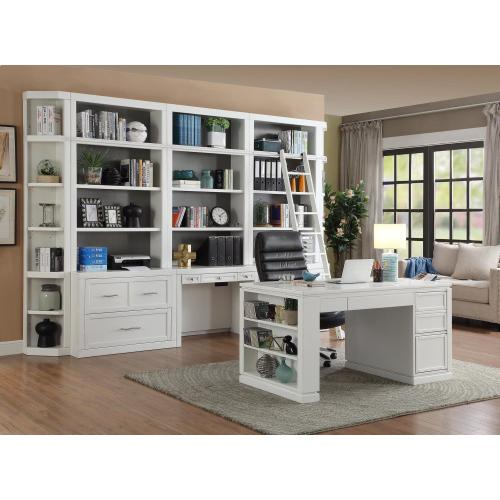 CATALINA 8 piece Library Wall with Writing Desk