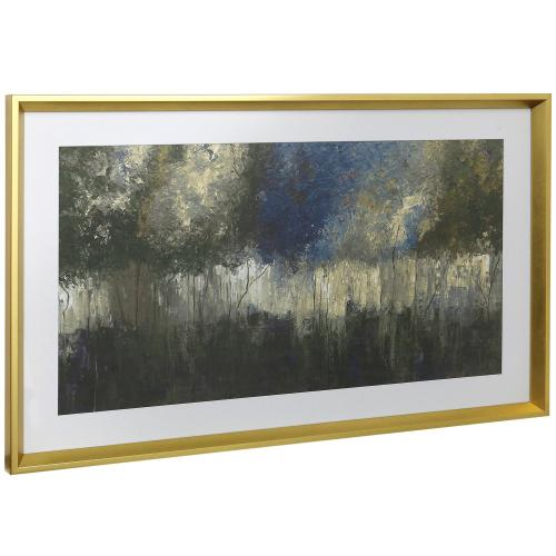 Style Craft - DUSK IMPRESSION  16in w X 41in ht  Framed Print Under Glass with Matte