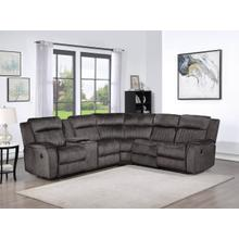 See Details - 8175 DARK GRAY Fabric Reversible Sectional Sofa Power Recliners