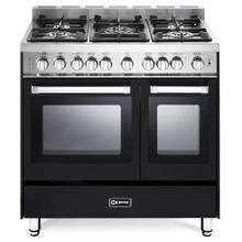 "See Details - Matte Black 36"" Gas Double Oven Range - 'N' Series"
