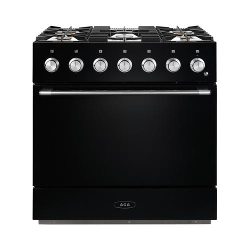 AGA Mercury 36 Dual Fuel Matte Black with Chrome trim