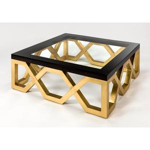 """Artmax - Coffee Table with Glass 43x43x17"""""""
