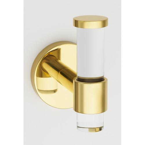 Acrylic Contemporary Robe Hook A7281 - Polished Brass