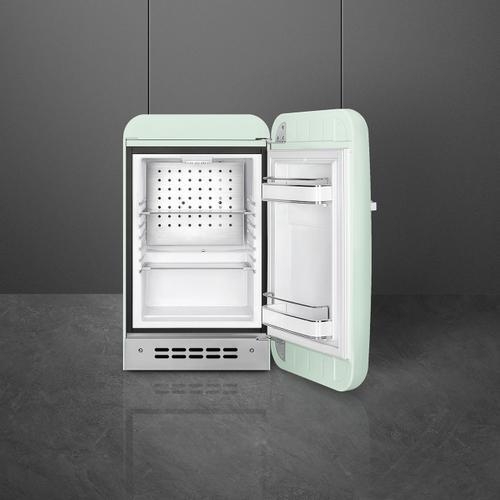 Retro-Style Mini Refrigerator, Right-hand hinge, Pastel Green