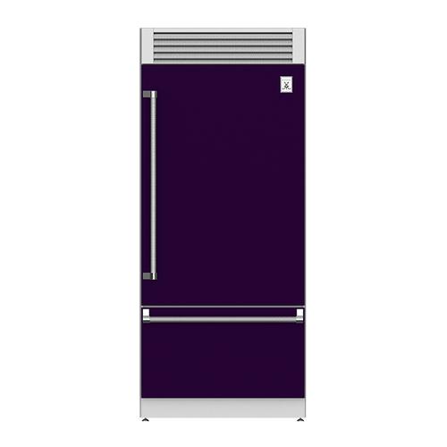 "36"" Pro Style Bottom Mount, Top Compressor Refrigerator - KRP Series - Lush"