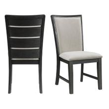 Grady Dining Slat Back Side Chair Black (2 Per Pack)