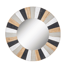 See Details - Slat Wood Wall Mirror