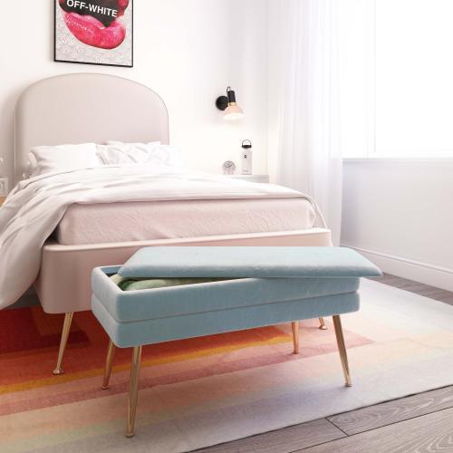Tov Furniture - Ziva Sea Blue Storage Bench