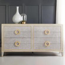 Abstract Dresser- Antique Grey
