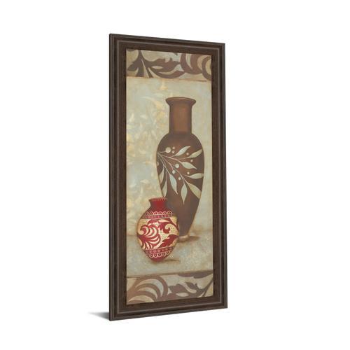 "Classy Art - ""Brown Vase"" By Stephanie Marrott Framed Print Wall Art"