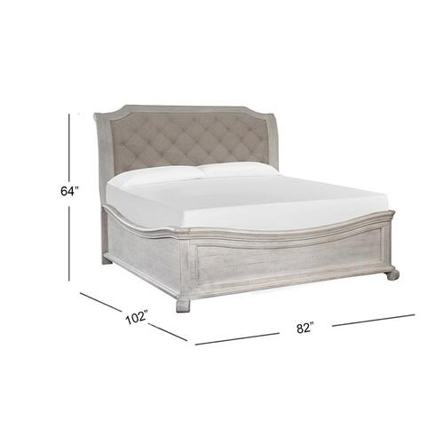 Magnussen Home - Complete Cal.King Sleigh Bed w/Shaped Footboard