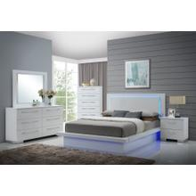 SAPPHIRE 6/6 EK Lighted Headboard