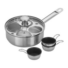 Demeyere RESTO 1.5-qt Stainless Steel Egg Poacher Set