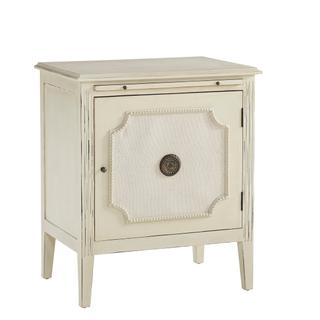 See Details - End Table with Linen and Beaded Front
