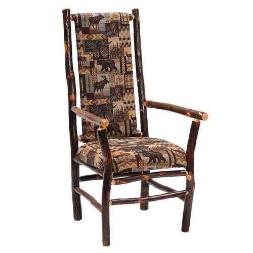High-back Arm Chair - Natural Hickory - Upgrade Fabric