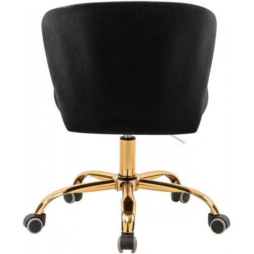 "Meridian Furniture - Finley Velvet Office Chair - 21.5"" W x 21"" D x 29.95""-34.65"" H"