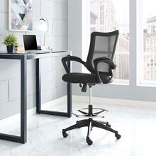 See Details - Project Drafting Chair in Black