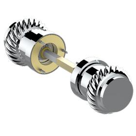 Pair of door handles - 7 mm spindle