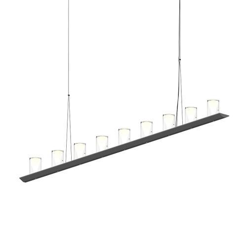 "Sonneman - A Way of Light - Votives LED Bar Pendant [Size=6', Color/Finish=Satin Black, Shade Size=4.5"" height x 2.75"" diameter]"