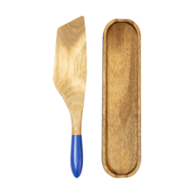 Mad Hungry 2-Piece Acacia Wood Spurtle Set, Blue