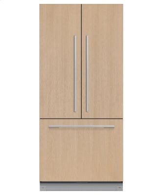 "Integrated French Door Refrigerator Freezer, 32"", Ice"