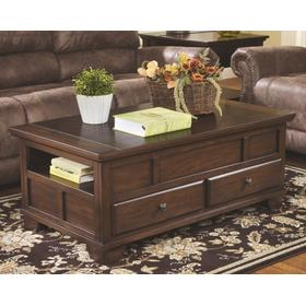 Gately Lift Top Cocktail Table Medium Brown